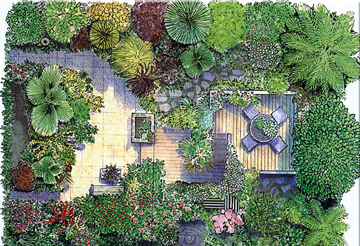 Urban Backyard Sketch