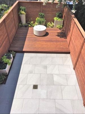 urban outdoor deck design sample
