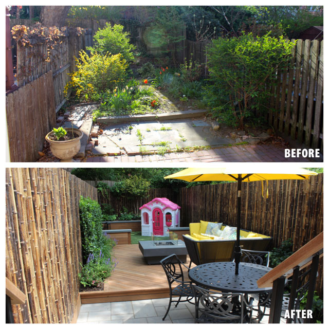 Backyard Before And After before and after backyard patio designs near hoboken, nj